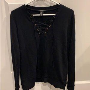 Crisscrossing sweatshirt